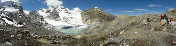 Muestreo de morrenas al sur del Nevado Norma