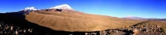 Panorámica de la vertiente noroeste del Nevado Coropuna
