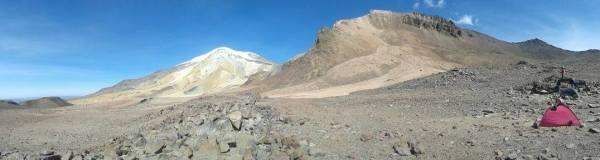 Panorámica del Nevado Coropuna desde el este (estación permafrost)