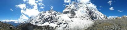 Panorámica del Nevado Salkantay desde el sur
